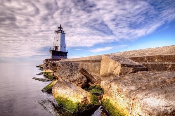 Ludington Pier Light in HDR<br /> <br /> Photographer's Name: Steve Nowakowski<br /> Photographer's City and State: Lambertville, MI