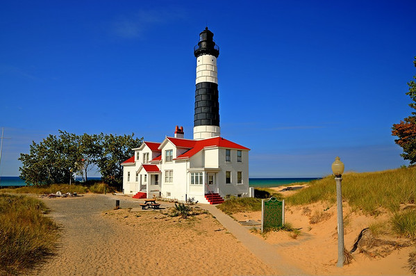 Big Sable Point Lighthouse on a calm summer day<br /> <br /> Photographer's Name: Steve Nowakowski<br /> Photographer's City and State: Lambertville, MI
