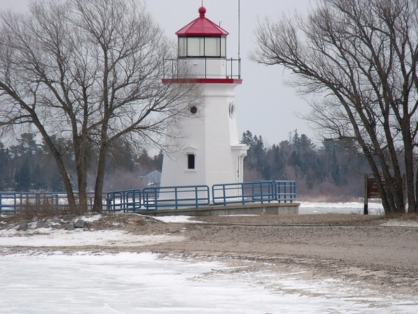 <b>Submitted By:</b> JoAnn Wilkinson <b>From:</b> Onaway, Michigan <b>Description:</b> Crib Light on Lake Huron, Cheboygan, Michigan. Photo taken December 30, 2009