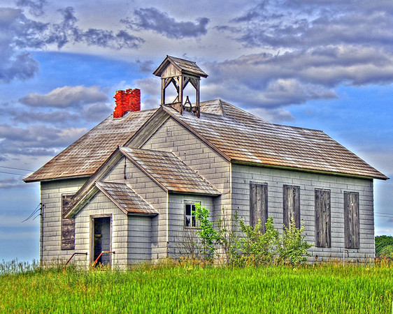 <b>Submitted By:</b> Jim Schoensee <b>From:</b> Central Lake, MI <b>Description:</b> Hency Rd. School House (abandoned), west of Kingsley. Taken in June 2006 with a Canon Rebel XT camera and edited with Photomatix HDR software.