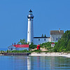 <b>Submitted By:</b> Steve Nowakowski <b>From:</b> Lambertville, MI. <b>Description:</b> South Manitou Island Lighthouse taken from the ferry boat on the way to south manitou Island in summer 2011.