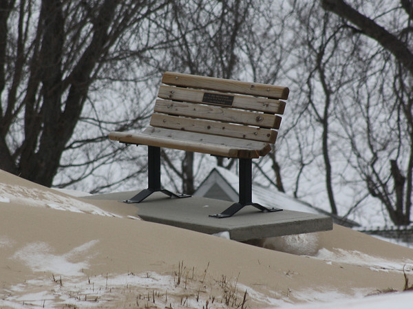 Winter on the beach in Frankfort, MI.<br /> <br /> Photographer's Name: Michell Clishe<br /> Photographer's City and State: Traverse City, MI