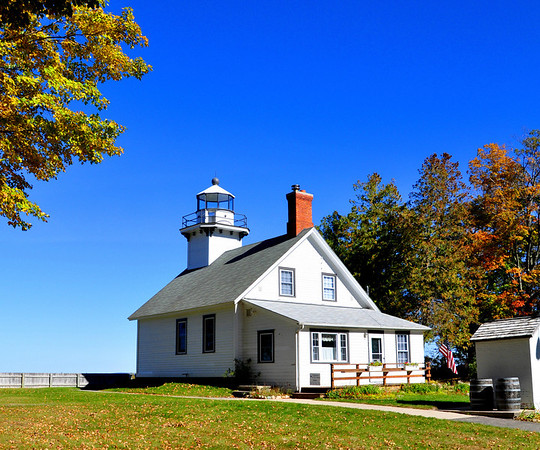 <b>Submitted By:</b> Steve Nowakowski <b>From:</b> Lambertville, MI. <b>Description:</b> Old Mission Point Lighthouse in the fall of 2010 located on the northern tip of Old Mission Peninsula in Michigan.