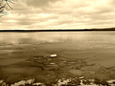 <b>Submitted By:</b> Abby Breithaupt <b>From:</b> Traverse City <b>Description:</b> Frozen lake, Interlochen area.