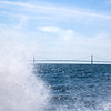 Surf spray in the Straits of Mackinac.  Photo taken 8/12  by Peter DeCamp, <br /> Chicago, Illinois