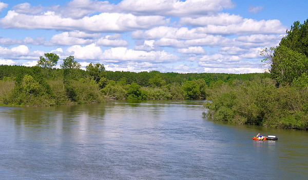 Floating on the Manistee River near Mesick.  Photo taken on 8/9 by Peter <br /> DeCamp, Chicago, Illinois.