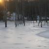 Kristine Hall<br /> Traverse City<br /> Duck House on frozen Boardman Pond in Traverse City.<br /> March 2009