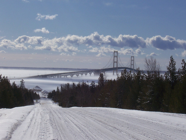 <b>Submitted By:</b> Jay Carter <b>From:</b> Rennie Lake, MI/Los Angeles, CA <b>Description:</b> View of Big Mac from the UP shore taken early Feb, 2009