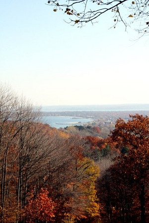 View of Traverse City, taken from Hickory Hills on November 4, 2008.<br /> <br /> Photography by Danielle Bielski <br /> Traverse City, MI