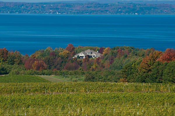 <b>Submitted By:</b> Steve Nowakowski <b>From:</b> Lambertville, Michigan <b>Description:</b> A picture of West Grand Traverse Bay taken from Old Mission Peninsula during the fall colors of October 2011.