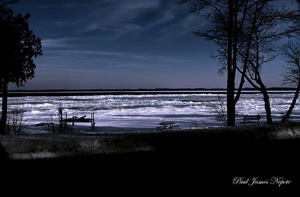 Winter Shoreline East Grand Traverse Bay<br /> <br /> Paul J Nepote<br /> Traverse City, Michigan<br /> Canon PowerShot SX10IS