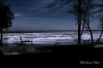 Winter Shoreline East Grand Traverse Bay  Paul J Nepote Traverse City, Michigan Canon PowerShot SX10IS