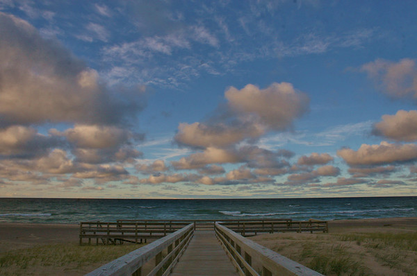 <b>Submitted By:</b> Sharon Lea Mitchell <b>From:</b> Kingsley Michigan <b>Description:</b> Agate Beach Boardwalk, Grand Marais Michigan. October 2011