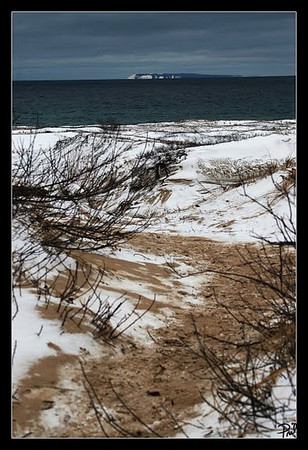 <b>Submitted By:</b> April Treece (Pril) <b>From:</b> Southeasth Michigan <b>Description:</b> This photo was taken of South Manitou Island winter 2010. Off the coast of sleepy bear dunes or near them. Pril