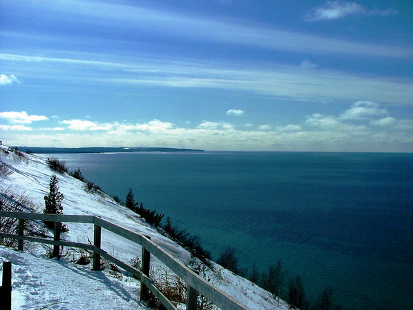 <b>Submitted By:</b> Diane Budzynowski <b>From:</b> Traverse City <b>Description:</b> Sleeping Bear Dunes- Winter 2009