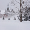 <b>Submitted By:</b> Coleen Sander <b>From:</b> Mancelona <b>Description:</b> Winter 08  View of Mancelona Baptist Church taken from my backyard.