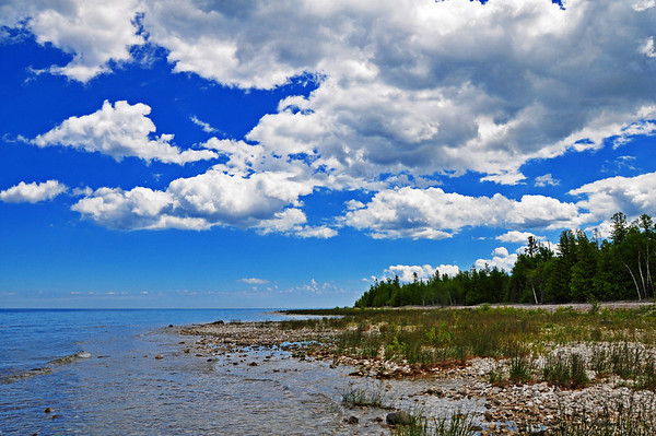 <b>Submitted By:</b> Steve Nowakowski <b>From:</b> Lambertville, MI. <b>Description:</b> Lake Huron Shoreline taken form Presque Isle summer 2010.