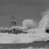 <b>Submitted By:</b> Sharon Lea Mitchell <b>From:</b> Kingsley Michigan <b>Description:</b> Gale winds making waves on Lake Superior at the Grand Marais outer lighthouse October 2011