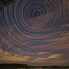 <b>Submitted By:</b> Laurie Lavrack <b>From:</b> Lake Ann <b>Description:</b> This is a combination of several hundred 30-second exposures, taken last weekend from 10:00 p.m.-3:00 a.m. under a full moon. The moon provided just enough light for the daytime effect.