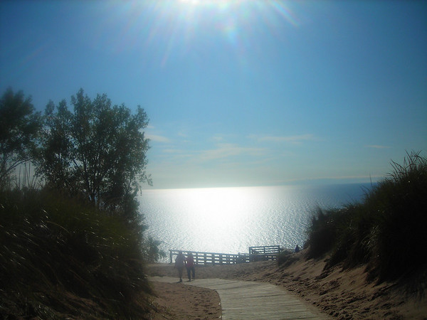 <b>Submitted By:</b> Christy Crawford <b>From:</b> Lake Ann <b>Description:</b> Looking down the path toward Lake Michigan at the overlook at Pierce Socking Drive.