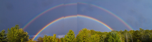 Panoramic Rainbow<br /> <br /> Photographer's Name: Peggy Sue  Zinn<br /> Photographer's City and State: Traverse City, MI