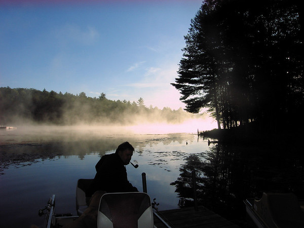 <b>Submitted By:</b> Jacqueline Nutting <b>From:</b> Traverse City <b>Description:</b> Foggy morning boat ride slicing through the fog on Spring Lake in Traverse City.