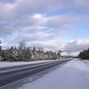 <b>Submitted By:</b> JoAnn Wilkinson <b>From:</b> Onaway <b>Description:</b> The Cold Winter Road, M-33 on the way back to Onaway.