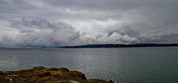 <b>Submitted By:</b> Peggy Sue Zinn <b>From:</b> Traverse City <b>Description:</b> Clouds over Traverse Bay