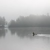 Rowing from Mickey Lake to Long Lake on a foggy morning.<br /> <br /> Photographer's Name: Carol Adler<br /> Photographer's City and State: Traverse City, MI