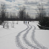 This was taken on DNR property in Leelanau County February 2009, left to <br /> right, Sue, Sue and Scottie!!<br /> Katie Taberski<br /> Maple City MI