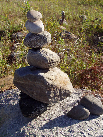 We had fun building stone towers at the water's edge at Deepwater Point.<br /> October 3rd, 2008.<br /> <br /> Andrea Lingaur