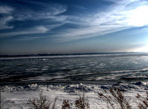 East Grand Traverse Bay Frozen Shoreline  Paul J Nepote Traverse City, Michigan Canon SX10IS Image processed using HDR Software