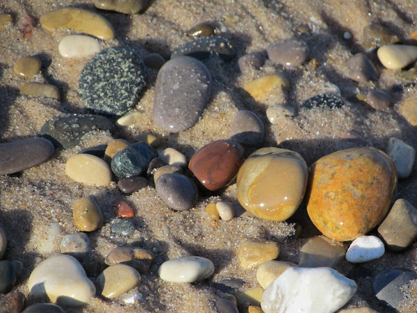 <b>Submitted By:</b> Frederic Messick <b>From:</b> Traverse City <b>Description:</b> Beach stones in the sand, near Point Betsie. Oct. 2011