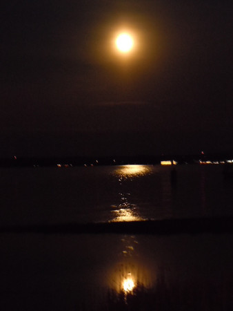 <b>Submitted By:</b> Robin M Patterson <b>From:</b> Traverse City <b>Description:</b> full moon, May 5, 2012 over West Grand Traverse Bay