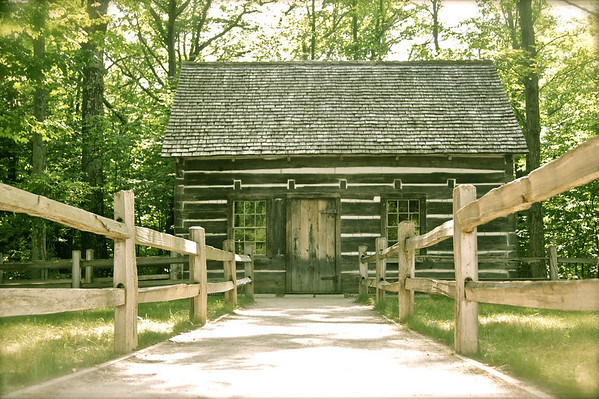 <b>Submitted By:</b> Roya Tremp <b>From:</b> Traverse City, MI <b>Description:</b> The Log Cabin at Old Mission Lighthouse