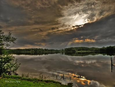 Sunset on Hicks Lake 2  Paul J Nepote Traverse City - Michigan Canon PowerShot SX10IS