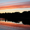 <b>Submitted By:</b> Julie Rapson <b>From:</b> Traverse City. <b>Description:</b> Fall Sunset on SilverLake