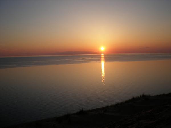 Sunset Over Pierce Stocking Overlook, Empire,  Michigan<br /> --<br /> Margaret Pierson