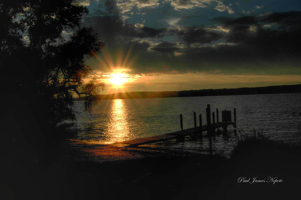 <b>Submitted By:</b> Paul J Nepote <b>From:</b> Traverse City, Michigan <b>Description:</b> Sunset Lake Leelanau at Bingham Launch Site.