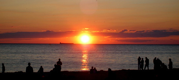 This photo was taken at Lake Michigan in the summer of 2006, before the <br /> fireworks in Frankfort.<br /> <br /> Korey Krause<br /> Seattle, Washington