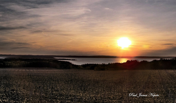 Submitted By: Paul Nepote From: Traverse City Description: Sunset over West Grand Traverse Bay, from Kroupa Hill.
