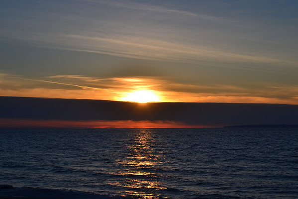 <b>Submitted By:</b> Dustin Michael Maleski <b>From:</b> Leland, Michigan <b>Description:</b> March 2nd: Sunset over lake Michigan. Vans beach, Leland. Shoot taken with Nikon d3100.