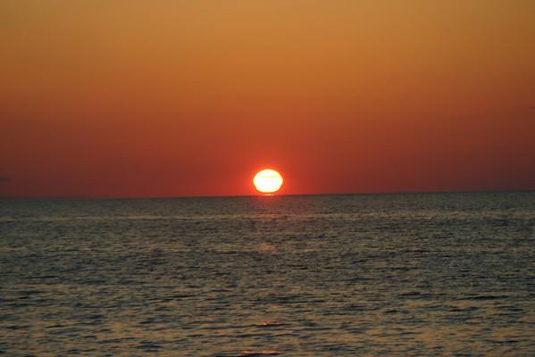 Sunset over lake Michigan Summer 2008<br /> >From John Bentley  Fillmore<br /> Traverse City MI
