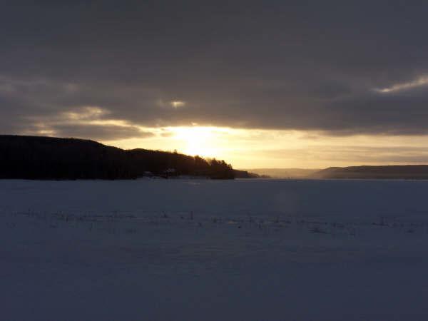 Glen Lake Narrows on Feb. 1st, 2009   By Mark Miller of Empire