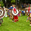 <b>Submitted By:</b> Peggy Sue Zinn <b>From:</b> Traverse City <b>Description:</b> Three Traditional Dancers at Peshawbestown Powwow
