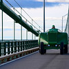 "<b>Submitted By:</b> Denise (D.B.) Barkdoll <b>From:</b> Traverse City <b>Description:</b> ""Jack on the Big Mac!"" Jack Robbin's of Traverse City crossing the Mackinaw Bridge on his 1964 John Deer Orchard Tractor for the Annual VintageTractor Run - 9-2011"