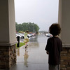 Rain girl, Cherry Capitol Airport, Traverse City.  Photo taken on 8/9 by <br /> Peter DeCamp, Chicago, Illinois