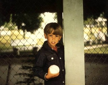 Paul Nepote Traverse City, Michigan Boy and His Baseball Clinch Park, Traverse City Nikormat FT 35MM Film