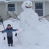 Abominable Snowman: This is our 1st snowman of the year; and biggest ever.<br />  <br /> Submitted by: Carl and Matthew Couturier