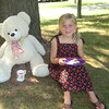 "<b>Submitted By:</b> Mary Werner <b>From:</b> Madison Heights, MI <b>Description:</b> Ruby enjoying tea with her Teddy ""Betsy"" at the Cherry Teddy Bear Tea - F&M Park July 8, 2012"